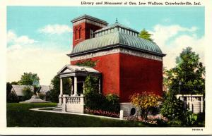 Library and Monument Of General Lew Wallace Crawfordsville Indiana 1943 Curteich