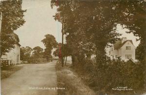 C-1910  Kent UK Wall End Isle of Grain RPPC real photo postcard 9174 Wright