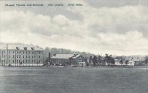 Massachusetts Ayer Chapel Theatre And Barracks Fort Devens Albertype