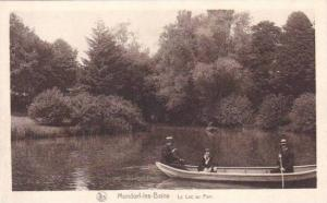 Three in row boat, Mondorf-les-Bains, Remich, Luxembourg, 10-20s