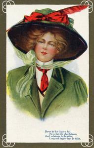 Lady in Green - Artist Signed: A. Heinze