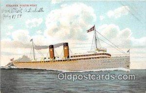 Steamer Northwest Ship Unused writing on front