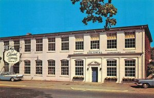 Pawtucket RI Colonial Fabric Care Services Old Cars Postcard