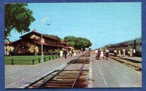 Clovis New Mexico nm Santa Fe Railway Station Depot old postcard