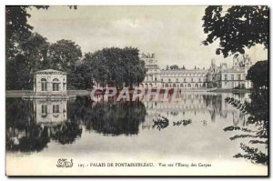 Old Postcard Fontainebleau Palace Of View On I & # 39Etang The Carps
