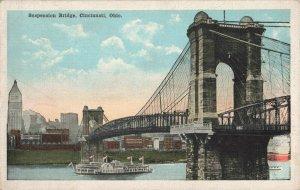 Postcard Suspension Bridge Cincinnati Ohio