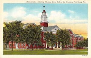 Petersburg Virginia State College for Negroes Black Americana Postcard JD933870