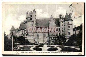 Old Postcard Bourges Palais Jacques Coeur shooting Place Berry