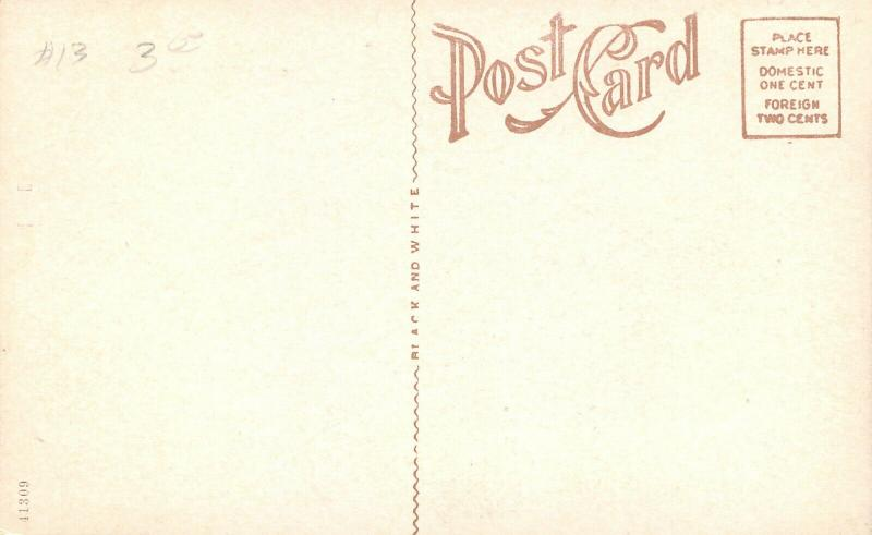 Paola Kansas~Presbyterian Church~Neighborhood Homes~1914 B&W Postcard