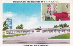 North Carolina Creedmoor Lakeside Motel 1958