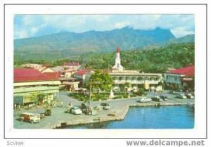 Waterfront View, Donald Hotel, Papeete, Tahiti, 40-60s