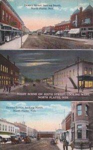 Nebraska North Platte Dewey Street Looking South &  North 6th Street A...