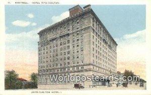 Hotel Ritz Carlton Montreal Canada Unused