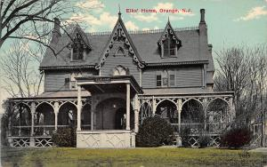 Elks' Home, Orange, New Jersey, Early Postcard, Used in 1913