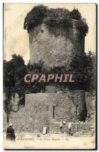 Old Postcard Avranches Le Vieux Donjon