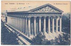 France, PARIS, La Madeleine, used Postcard