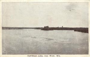 Iron River Wisconsin~Half Moon Lake~Sure a Fisherman's Paradise~B&W 1930 PC