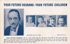 Humour Vintage Arcade Card Your Future Husband Will Be A Race Track Tout