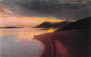 Norway Old Vintage Antique Post Card Midnight SUn Hammerfest Unused