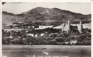 Vintage 1960 Cppr Carte Postale The Athill Palace & Vrackie Pitlochry Château Jb