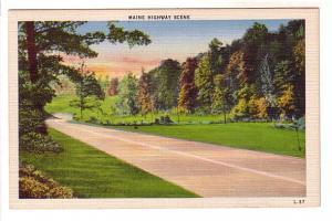 Maine Highway Scene