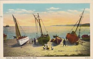 Massachusetts Gloucester Italian Fishing Boats 1929 Curteich