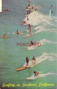 1969 SURFING IN SOUTHERN CALIFORNIA beaches along P C H afford exciting sport