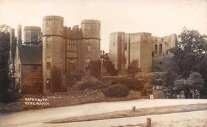 Vintage REAL PHOTO Postcard Gatehouse Kenilworth Castle #K