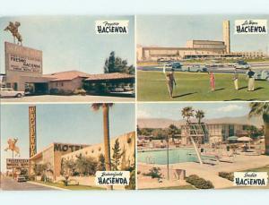 Unused Pre-1980 HACIENDA MOTEL Fresno - Indio - Bakersfield CA u7042-12