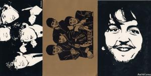 The Beatles Merseyside Tourism Gold Metallic 3x Postcard s