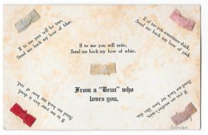 Bow Add-Ons From a Beau Who Loves You Vntg Novelty Postcard