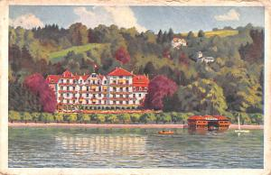 Switzerland Old Vintage Antique Post Card Carlton Hotel Tivoli, Lucerne 1927