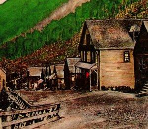Monte Cristo Washington Wa Dumas Avenue Fantasma Città Unp Cromo Cartolina