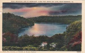 Virginia Pembroke Mountain Lake By Moonlight