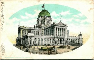 Vtg Postal 1907 Udb Chicago Illinois Il - Nuevo Correo Oficina - Early Curt