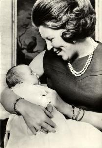 Dutch Princess Beatrix with Prince Constantijn (1969)