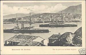 greece, CORFU CORFOU, English Fleet in Harbour (1899)