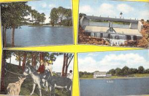 Canal Fulton Ohio Clays Park Multiview Antique Postcard K89453