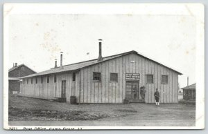Camp Grant Illinois~Military Branch Post Office~WWI Soldiers at Door~c1917 B&W
