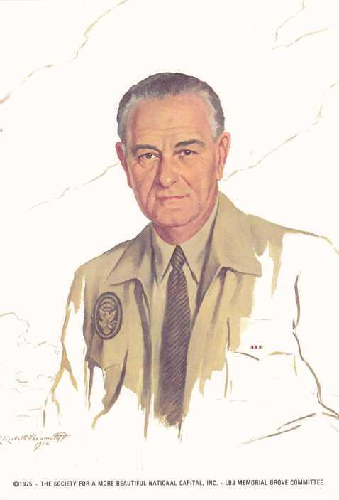 President Lyndon B Johnson - a/s Elizabeth Shoumatoff