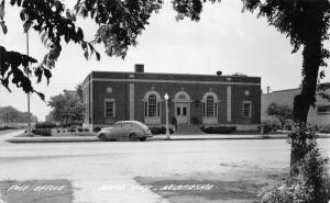 David City Nebraska~US Post Office~1930s Car~Cobblestone Street~1940s RPPC
