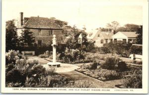 Yorktown, Virginia Postcard YORK HALL GARDEN Albertype c1930s Unused