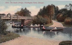 Illinois Chicago Rustic Bridge In Washington Park 1913