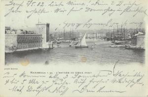 BR95356 marseille l entree du vieux port france ship bateaux