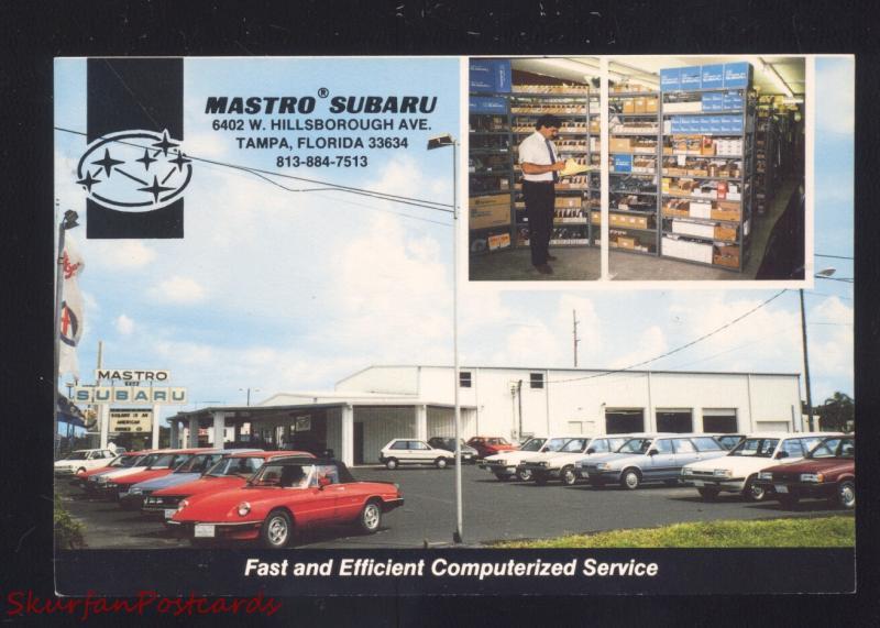 TAMPA FLORIDA MASTRO SUBARU CAR DEALER ADVERTISING POSTCARD