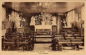 New York Highland Mills The Chapel Academy Of Jesus & Mary Albertype