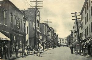 Scottsdale Pennsylvania~Pittsburgh Street~Pool Hall~Ice Cream Soda~1910