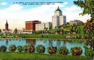 Wisconsin Milwaukee Northwestern Depot Elks Club and Cudahy Tower Apartments ...