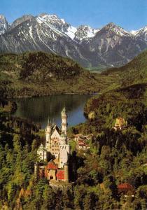 Stunning Giant Size Postcard Royal Castle Neuschwanstein, Germany OS65