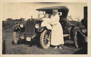 License Plate  #5242  Automobile Real Photo Postcard